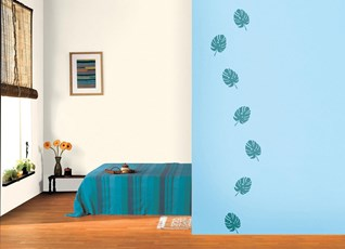 Sky Blue Color Walls Paint Design