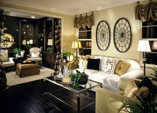 Pale Yellow & Beige Living Room Design
