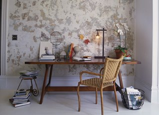 Textured Wall Paint Finish for Rustic Look