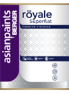 Berger Royale Superflat Matt Finish Emulsion Paint for Interior Walls